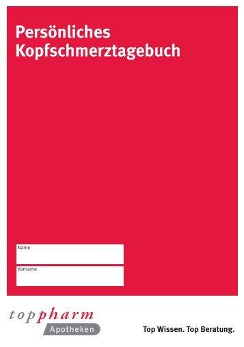 Persönliches Kopfschmerztagebuch - TopPharm Nordring-Apotheke