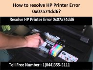 1(800)576-9647 How to resolve HP Printer Error 0x07a74dd6