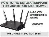 Call 18442003971 to Fix NETGEAR SUPPORT FOR AC2600 X4S NIGHTHAWK