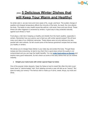 [PDF]  5 Delicious Winter Dishes that will Keep Your Warm and Healthy!