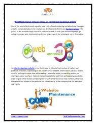 Web Maintenance Services help a lot To Improve Businesses Online