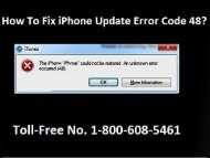 How to Fix iPhone Update Error Code 48? 1-800-608-5461