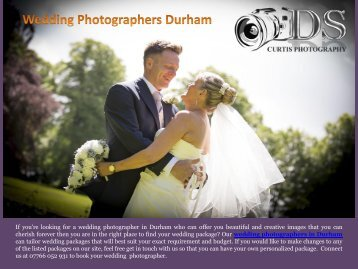Wedding Photographers Durham