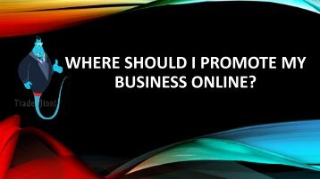 Where Should I Promote My Business Online