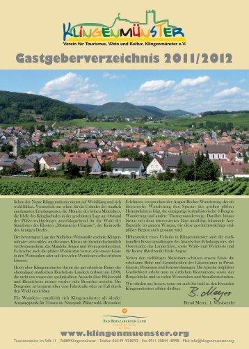 Verein für Tourismus, Wein und Kultur, Klingenmünster e.V.