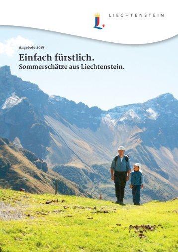 Sommerbroschüre Fürstentum Liechtenstein