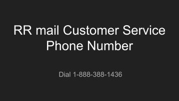 RR mail Customer Service Phone Number