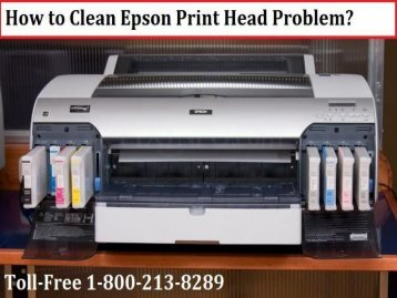 Clean Epson Print Head Problem by dialing 1-800-213-8289