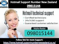 Hotmail Support New Zealand 098015144