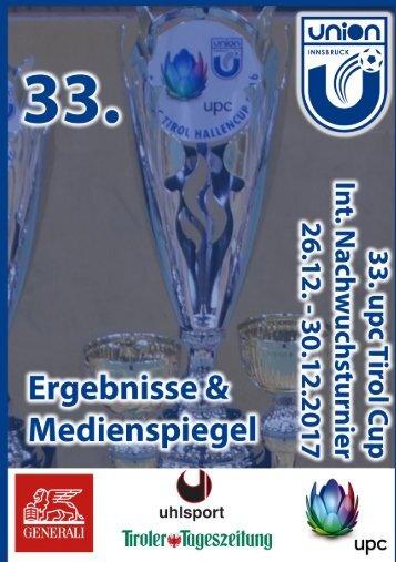 Ergebnisse & Medienspiegel 33. UPC tirol int. Nachwuchscup 2017 der UNION Innsbruck