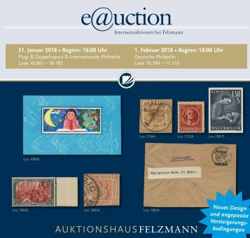 Auktionshaus Felzmann - Auktion-1018 - Philatelie
