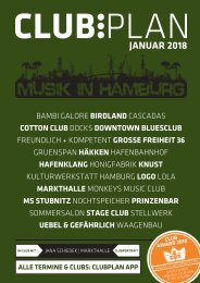 Clubplan Hamburg - Januar 2018