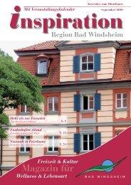 September 2010:Layout 1 - Magazin Inspiration - Bad Windsheim