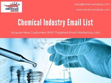 Chemical Industry Email List | Chemical Industry Database