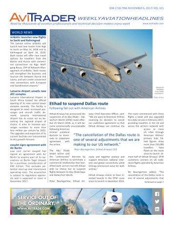 AviTrader Weekly News 2017-11-06