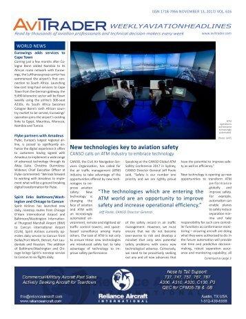 AviTrader Weekly News 2017-11-13
