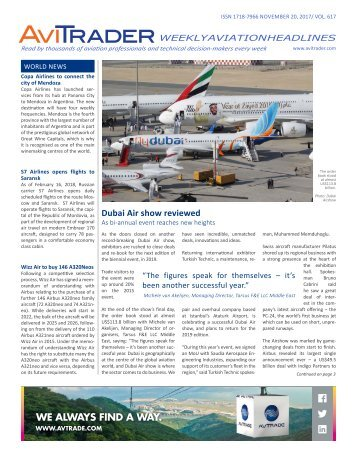 AviTrader Weekly News 2017-11-20