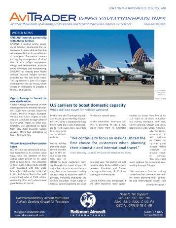 AviTrader Weekly News 2017-11-27
