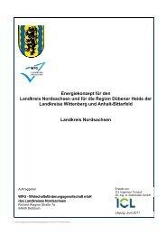 Energiekonzept für den Landkreis Nordsachsen und für die Region ...