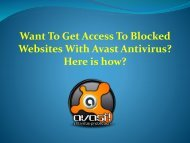 Want to get Access to Blocked Websites with Avast Antivirus? Here is how?