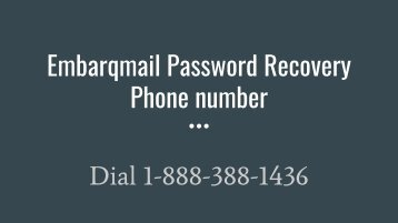 Embarqmail Password Recovery Phone number