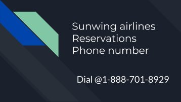 Sunwing airlines Reservations Phone number(1)