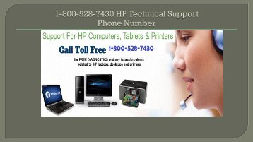 1-800-528-7430 HP Technical Support Number