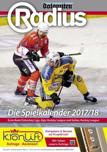Radius Eishockey Spielkalender 17_18