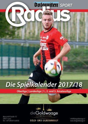 Radius Fussball Spielkalender 2017