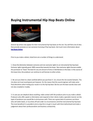8 Hip Hop Beats