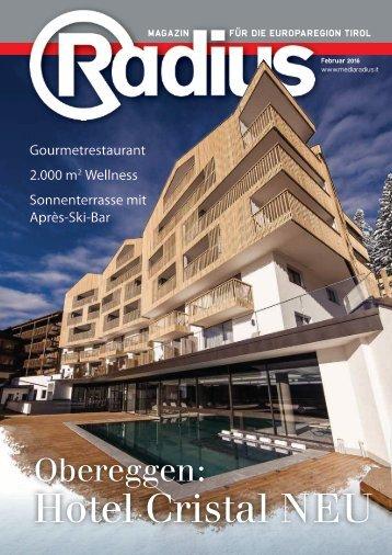 Radius Insert Hotel Cristal Bauen Sanieren 2016