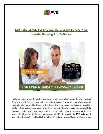 AVG Help Number 1-855-676-2448