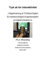 Ph.d. afhandling, Thomas Bjørner