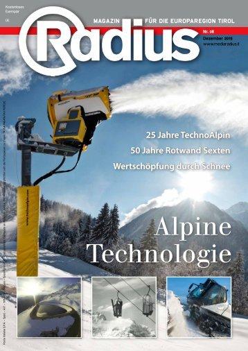 Radius Alpine Technologien 2015
