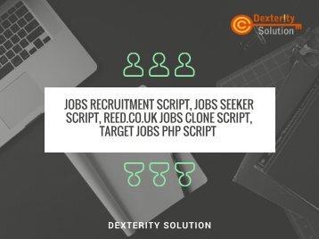Jobs recruitment script, Jobs seeker script, Reed.co.uk jobs clone script, Target Jobs php script