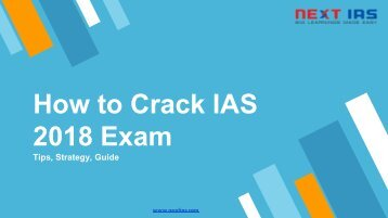 How to Crack IAS 2018 Exam - Tips, Strategy, Guide