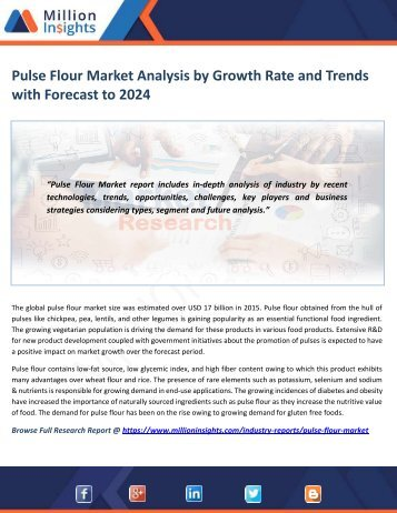 Pulse Flour Market Analysis by Growth Rate and Trends with Forecast to 2024