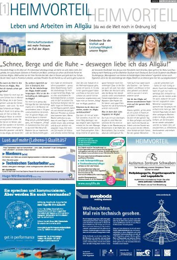 Heimvorteil - Leben und Arbeiten im Allgäu