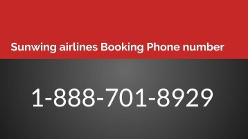 Sunwing airlines Booking Phone number(1)