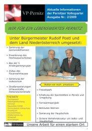 Pernitz über Arbeits - Volkspartei Niederösterreich