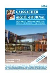 GAISSACHER ÄRztE-JouRnAl - Wurms & Partner Public Relations ...
