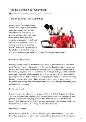 Tips for Buying Your Cosmetics