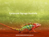 Corporate Signage Australia - Chameleon Print Group