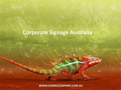 Corporate Signage Australia - Chameleon Print Group