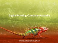 Digital Printing Company Australia - Chameleon Print Group