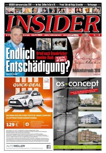 INSIDER Osnabrück // Januar 2018 // No. 414
