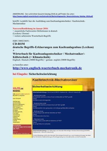 Kaeltetechnik lexikon erklaerungen for Deutsch italienisch ubersetzung