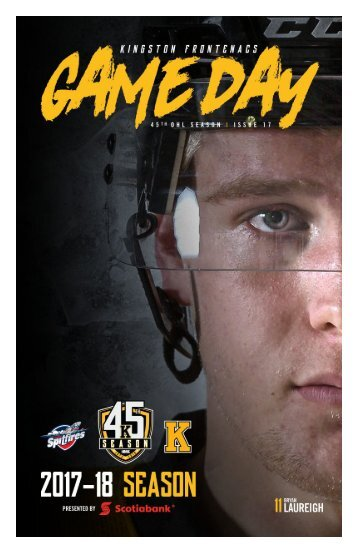 Kingston Frontenacs GameDay January 5, 2018