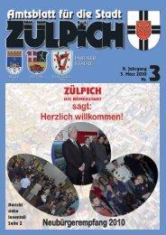 Sonntag, 28. März, 13 bis 18 Uhr Verkaufsoffener ... - Stadt Zülpich