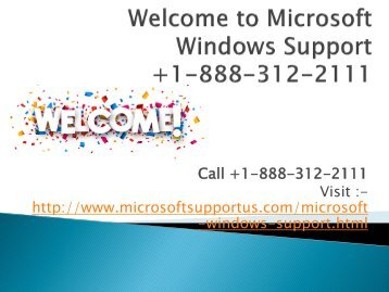 Microsoft Windows Support Number +1-888-312-2111